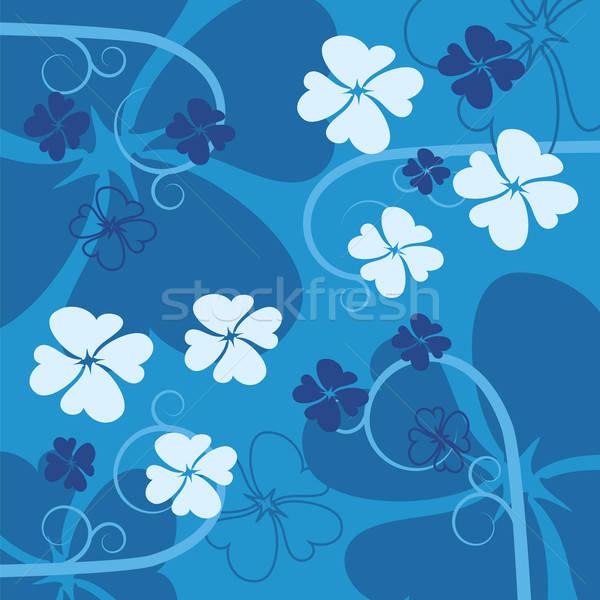 синий цветок аннотация цветок дизайна красоту искусства Сток-фото © antkevyv
