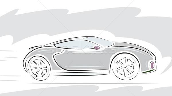 Racing sport auto model technologie snelheid Stockfoto © antkevyv