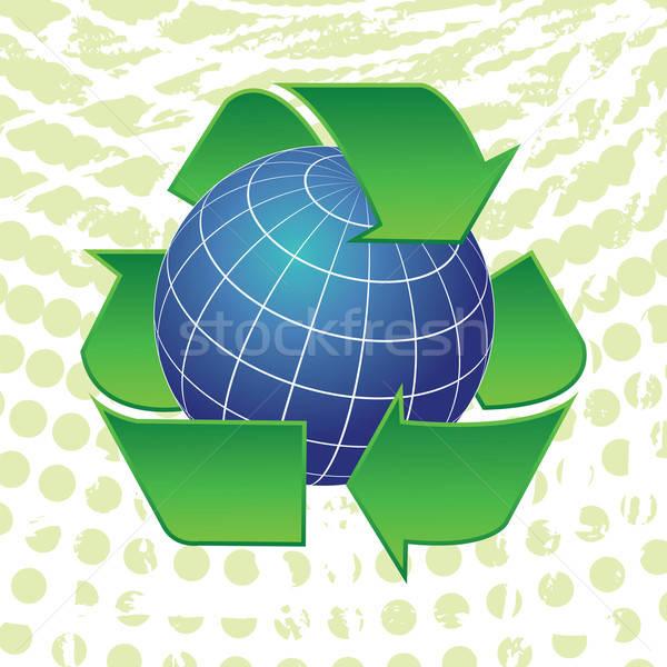 Aarde wereldbol recycling pijlen symbolen symbool Stockfoto © antkevyv