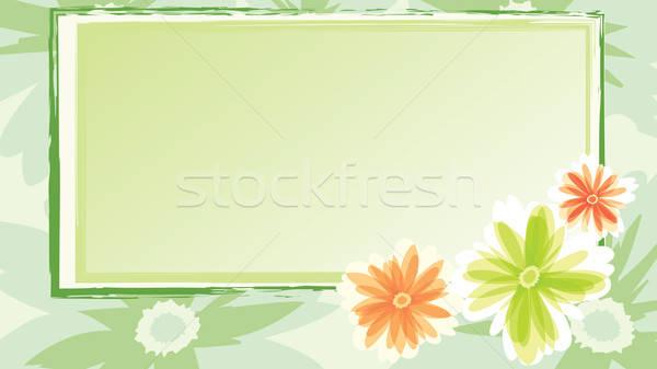 Feestelijk kaart bloemen bloem liefde abstract Stockfoto © antkevyv