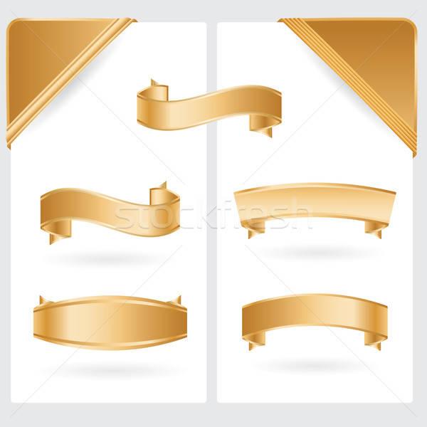 Gouden hoeken collectie abstract goud Stockfoto © antkevyv