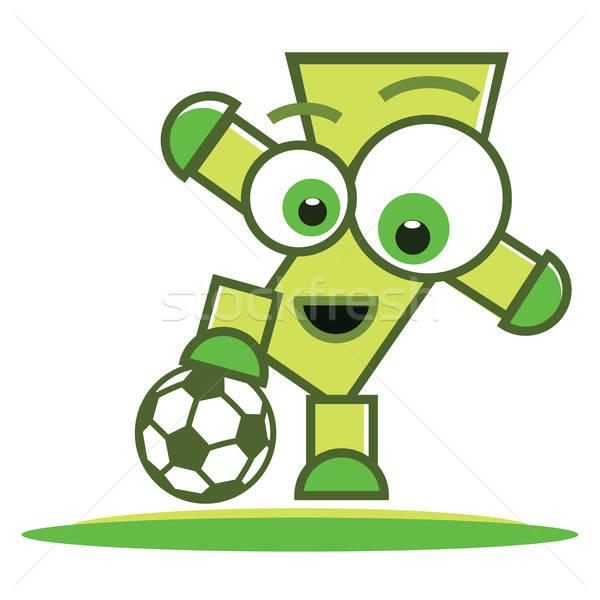 Voetballer karakter voetbal voetballer bal sport Stockfoto © antkevyv