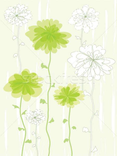 Groene bloem illustratie abstract natuur achtergrond Stockfoto © antkevyv