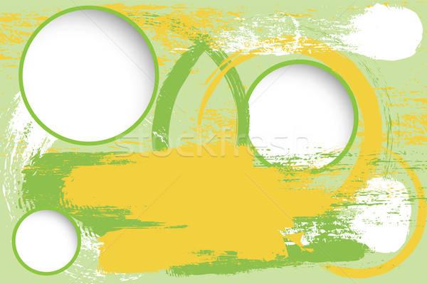 grunge background with blank circles Stock photo © antkevyv