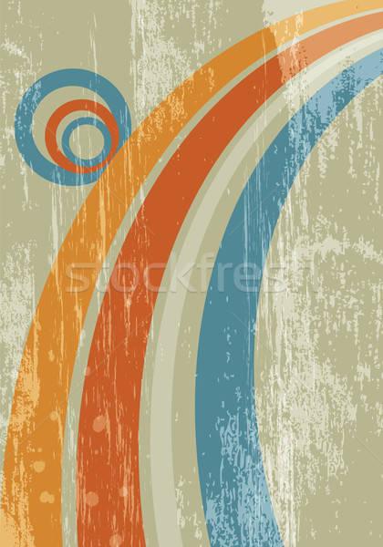 Abstract zon regenboog grunge retro achtergronden Stockfoto © antkevyv