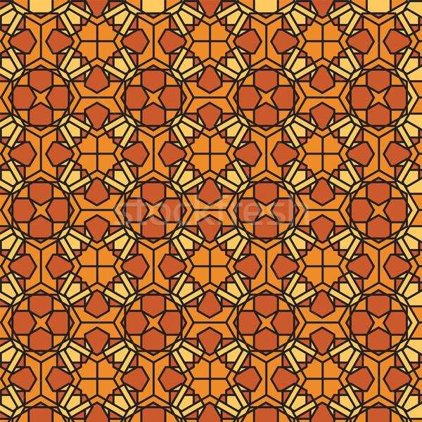 Mozaiek gebrandschilderd glas abstract illustratie glas achtergrond Stockfoto © antkevyv