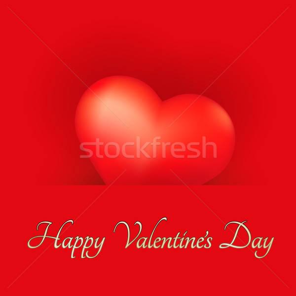 Feestelijk kaart hart valentijnsdag gelukkig achtergrond Stockfoto © antkevyv