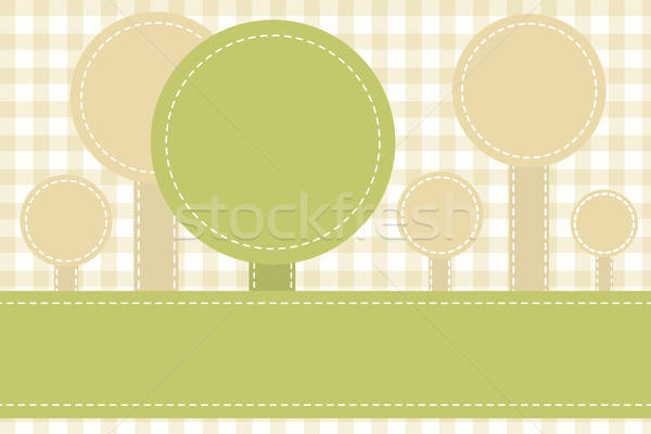 abstract sewed stripes and rounds Stock photo © antkevyv