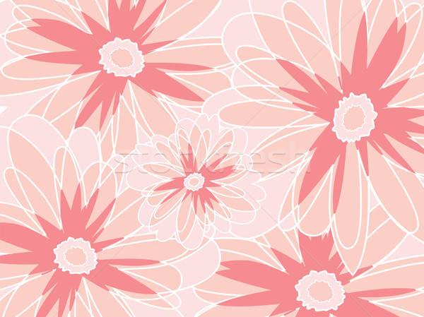 Stockfoto: Abstract · bloem · voorjaar · vintage · patroon · grafische