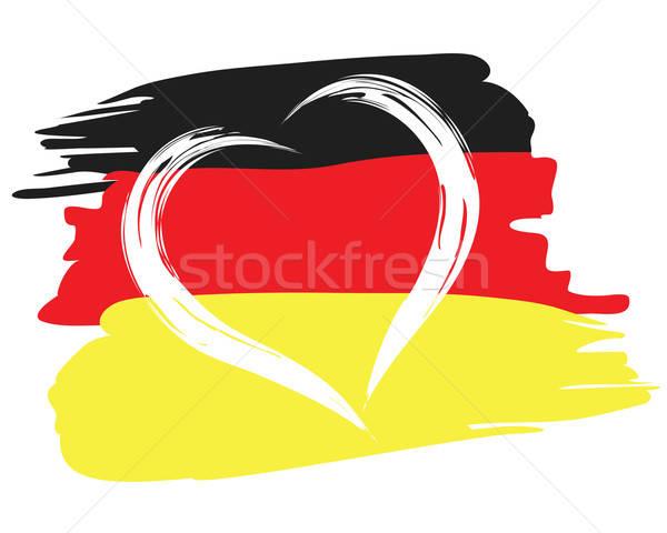Geschilderd vlag hartvorm symbool vaderlandslievend illustratie Stockfoto © antkevyv