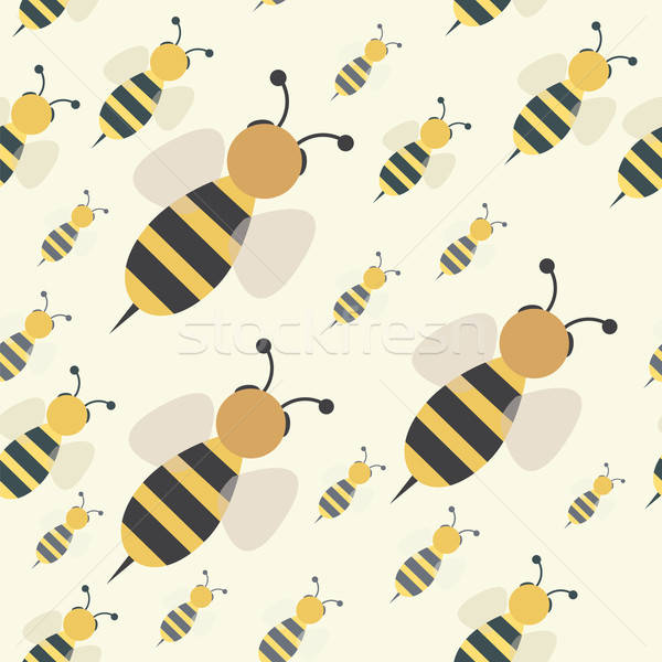 abstract bee swarm seamless Stock photo © antkevyv