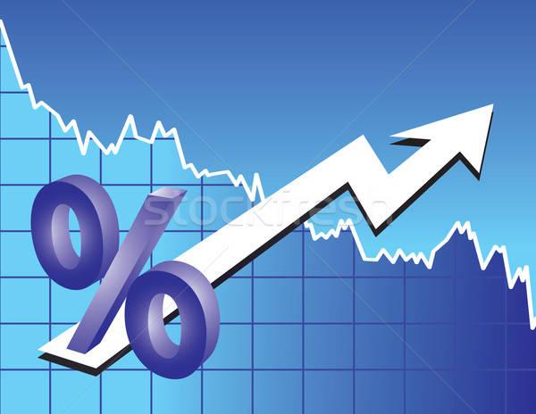 Procent teken pijl voorraad trend corporate Stockfoto © antkevyv