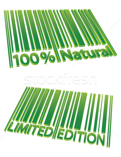 Special Edition and 100% Natural barcodes Stock photo © antkevyv