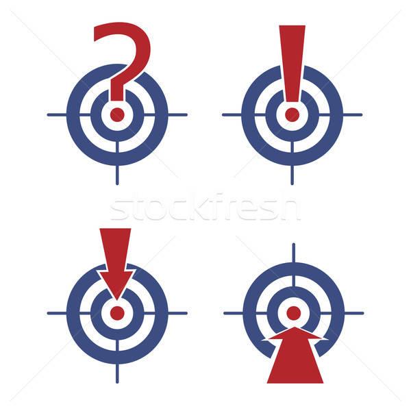 Stockfoto: Target · pijlen · vraag · abstract · succes · marketing