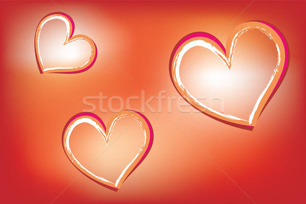 Harten abstract hart symbolen Rood vector Stockfoto © antkevyv