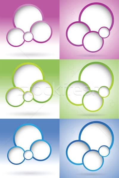 Web design bubble ingesteld internet abstract communicatie Stockfoto © antkevyv