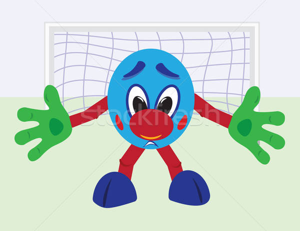 вратарь Cartoon футбола Футбол спорт области Сток-фото © antkevyv