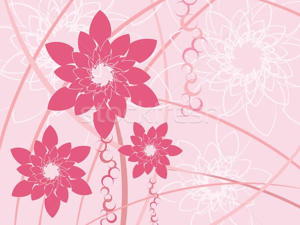 Gestileerde roze bloemen abstract voorjaar ontwerp Stockfoto © antkevyv