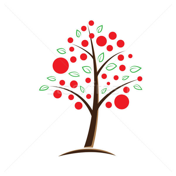 apple tree symbolic illustration Stock photo © antkevyv