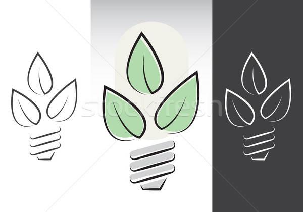 green energy lightbulbs symbols Stock photo © antkevyv