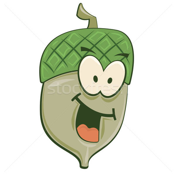 Smiling Cartoon Acorn Stock photo © antkevyv
