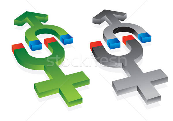 gravitation of male and female symbols Stock photo © antkevyv