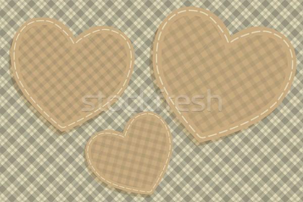 Hearts tartan background Stock photo © antkevyv