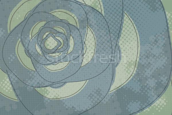 Abstract halftoon futuristische grunge vector afbeelding Stockfoto © antkevyv