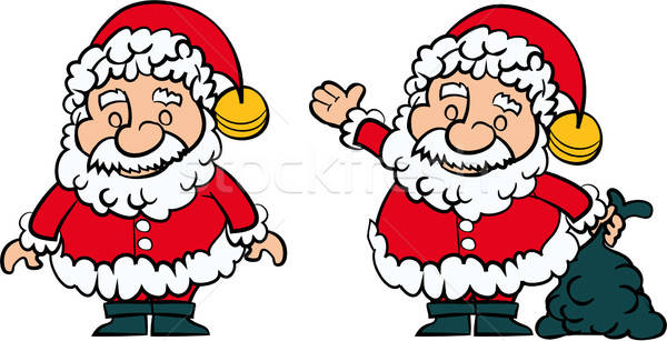 Santa Clause set of 2 Stock photo © antonbrand