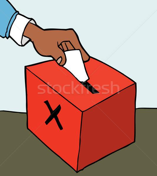 Hand casting ballot Stock photo © antonbrand