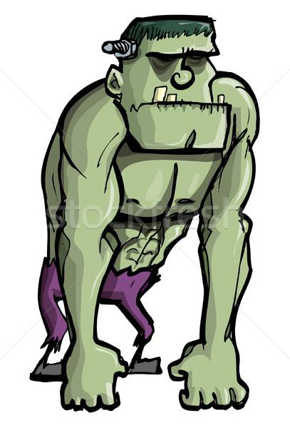 Cartoon Frankenstein monster Stock photo © antonbrand