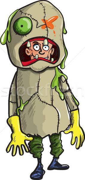 Cartoon человека зомби изолированный белый платье Сток-фото © antonbrand
