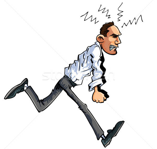 Cartoon of furious man Stock photo © antonbrand
