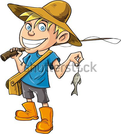 Cartoon cowboy with a gun belt and cowboy hat Stock photo © antonbrand