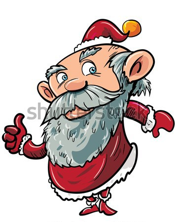 Cartoon Santa with Xmas pudding Stock photo © antonbrand