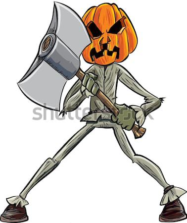 Cartoon skeleton cowboy with a gun Stock photo © antonbrand