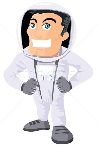 Cartoon astronaout in a space suit Stock photo © antonbrand