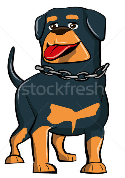 Cartoon Rottweiler with tongue sticking out Stock photo © antonbrand