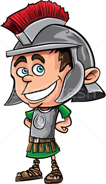 Cute cartoon Roman legionary Stock photo © antonbrand