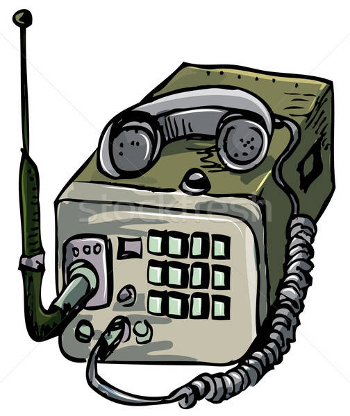 Illustration alten Krieg Zeit Radio isoliert Stock foto © antonbrand