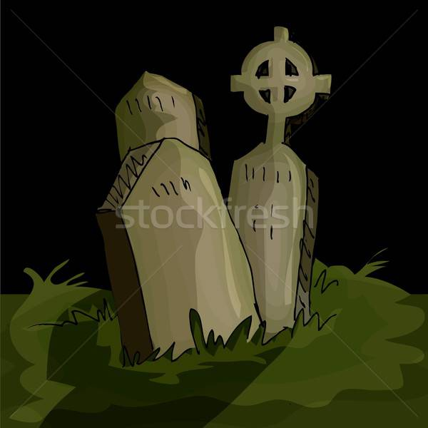 Gravestones in a graveyard Stock photo © antonbrand