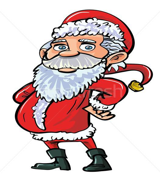 Cartoon smiling happy Santa in red Stock photo © antonbrand