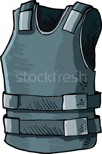 Ilustração bala prova colete isolado branco Foto stock © antonbrand