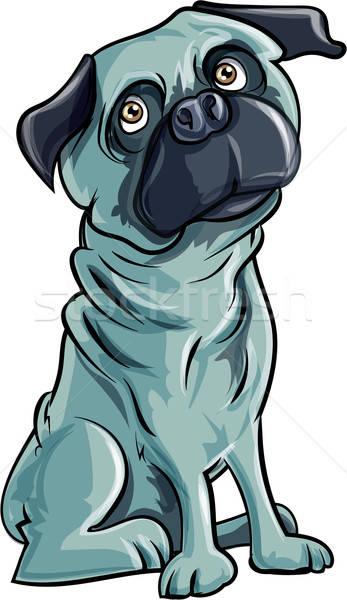 Karikatür köpek yalıtılmış beyaz komik hayvan Stok fotoğraf © antonbrand