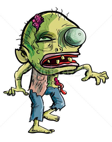 Cartoon zombie with a grotesque eye Stock photo © antonbrand