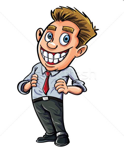 Cartoon confident office worker Stock photo © antonbrand