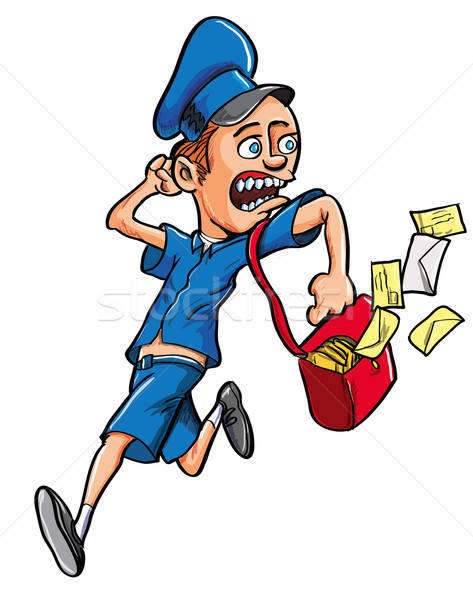 Cartoon postman running Stock photo © antonbrand