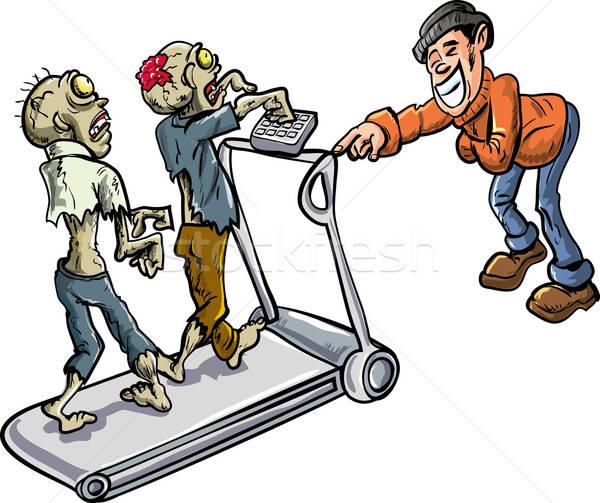 Zombies on a treadmill Stock photo © antonbrand