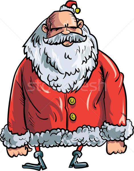 Karikatur Bösen isoliert weiß Weihnachten Stock foto © antonbrand