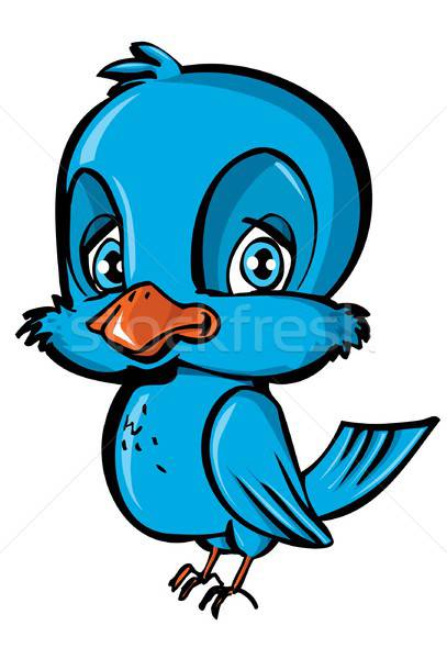 Cartoon of blue bird Stock photo © antonbrand